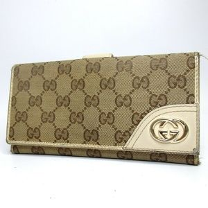 Auth Gucci Gg Canvas Wallet #484G1053